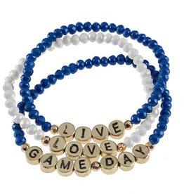 Gameday Bracelet Set - Royal