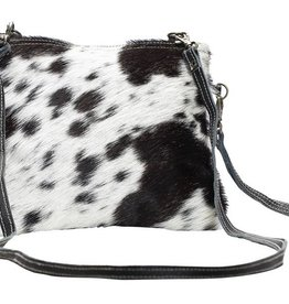 MYRA BAG White And Black Shade Bag
