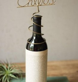 Wine Topper- Cheers