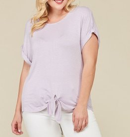 Go Softly Top- Lavender/White