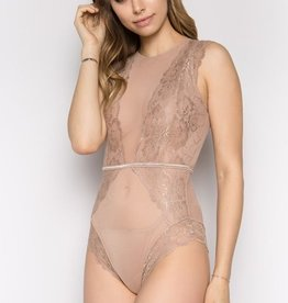 Feeling Fancy Bodysuit- Taupe