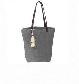 Solid Jute Tote - Gray
