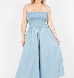 Anywhere With You Jumpsuit- Med Wash