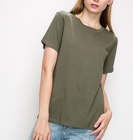 Just A Common Girl Top - Olive