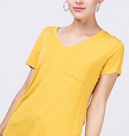 Not So Plain Jane Top - Mustard