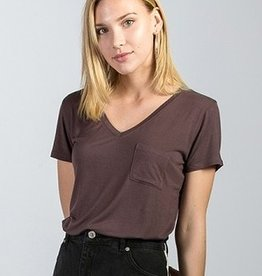 Not So Plain Jane Top - Plum Brown