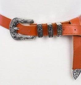 Ryland Western Belt - Rust/Silver