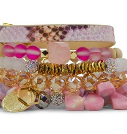 Erimish Stackable Bracelet Set - Pansy