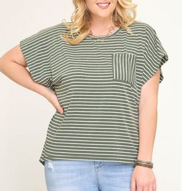In Your Comfort Zone Top- Olive