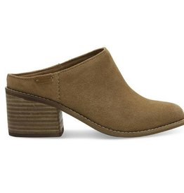 TOMS Suede Leila Mules - Toffee
