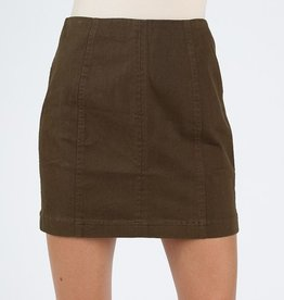 Just Let It Be Mini Skirt - Olive