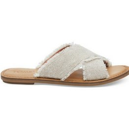 TOMS Women's Viv Sandal Natural Metallic Jute