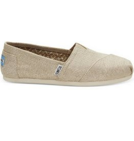 TOMS Classic Slip On Burlap Natural Metallic