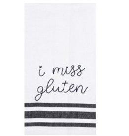 Embroidery Statement Tea Towel- I Miss Gluten
