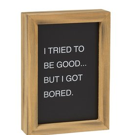 Good Is Boring Letterboard Sign