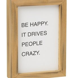Happy Crazy Letterboard Sign
