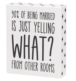 Being Married Box Sign