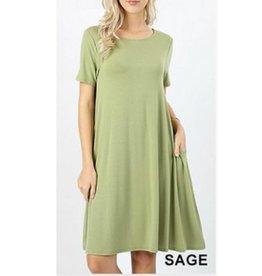 I'm So Basic Dress - Sage