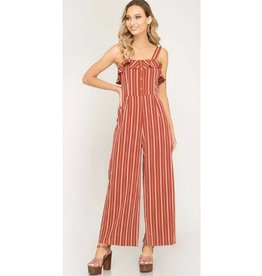 Stand Tall Jumpsuit- Rust