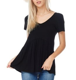 All Ruffled Up Blouse- Black