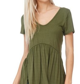 All Ruffled Up Blouse- Olive