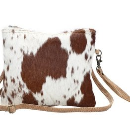 MYRA BAG White And Brown Shade Bag