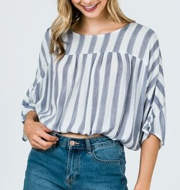 Ready To Get Away Top- Blue
