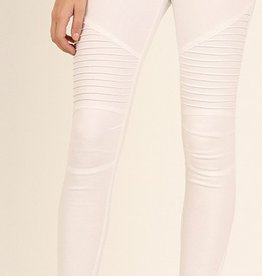 Life Long Moto Jeggings - Off White
