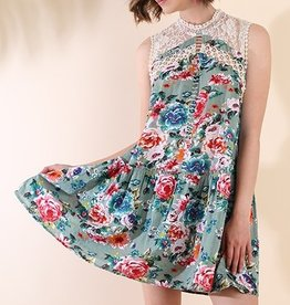 Is This Love Dress- Dusty Mint Mix
