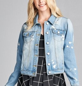 True To Yourself Denim Jacket- Blue