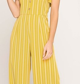 Stand Tall Jumpsuit- Honey Mustard