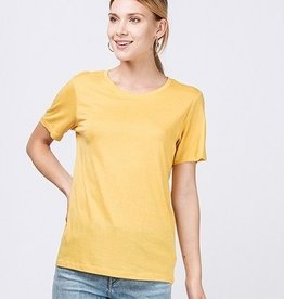 Just A Common Girl Top - Mustard