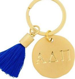 Round Tassel Keychain- Alpha Delta Pi