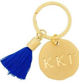 Round Tassel Keychain- Kappa Kappa Gamma