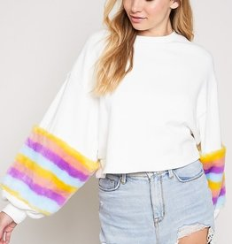 Lost In The Rainbow Top- Ivory