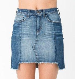 Need You Skirt- Medium Denim