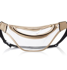 Clear Stadium Fanny Pack - Gold