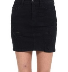 Damage Is Done Skirt- Black