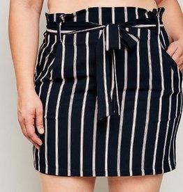 Bow Me Away Skirt- Navy