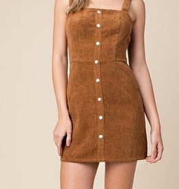 Live Your Life Dress- Brown