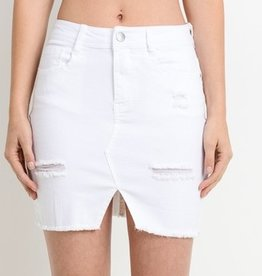 In My Time Mini Skirt- White