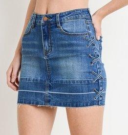 Always Yours Mini Skirt- Medium Wash