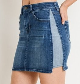 In The Game Mini Skirt- Dark Wash
