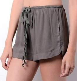 Happy Daze Shorts- Olive