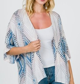 Feel The Connection Kimono- Blue