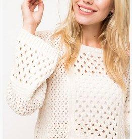 High Ball Crop Sweater- Ivory