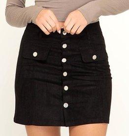 Shut It Down Mini Skirt- Black
