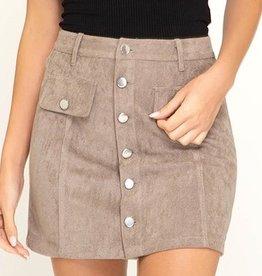 Shut It Down Mini Skirt- Mocha
