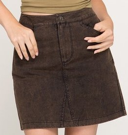 Concentrate On This Mini Skirt- Black