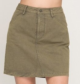 Concentrate On This Mini Skirt- Olive